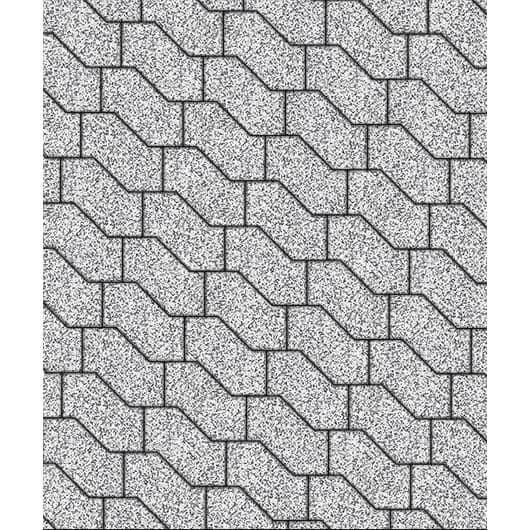 Тротуарные плиты ВЫБОР Стоунмикс S-ФОРМА В.3.Ф.10 Бело-черный