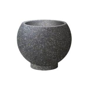 Вазон бетонный ВЫБОР ВАЗОН-1 d=600, h=480 Черный Мозаичный бетон