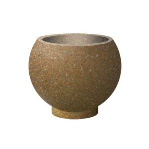 Вазон бетонный ВЫБОР ВАЗОН-1 d=600, h=480 Медовый Мытый бетон