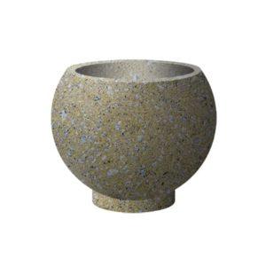 Вазон бетонный ВЫБОР ВАЗОН-1 d=600, h=480 С пигментом Гранит