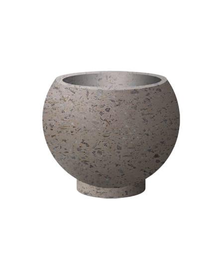 Вазон бетонный ВЫБОР ВАЗОН-1 d=600, h=480 Серо-красный Мытый бетон