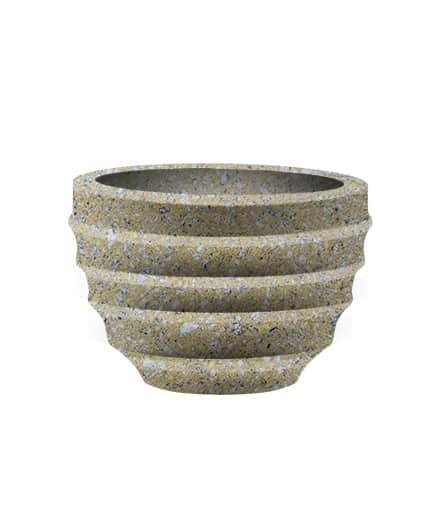Вазон бетонный ВЫБОР ВАЗОН-2 d=600, h=400 С пигментом Гранит