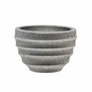 Вазон бетонный ВЫБОР ВАЗОН-2 d=600, h=400 Серый Мозаичный бетон