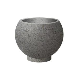 Вазоны бетонные ВЫБОР ВАЗОН-1 d=600, h=480 Бело-черный Мытый бетон