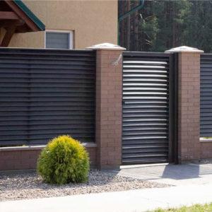 Забор жалюзи Гамма металлический каркасный