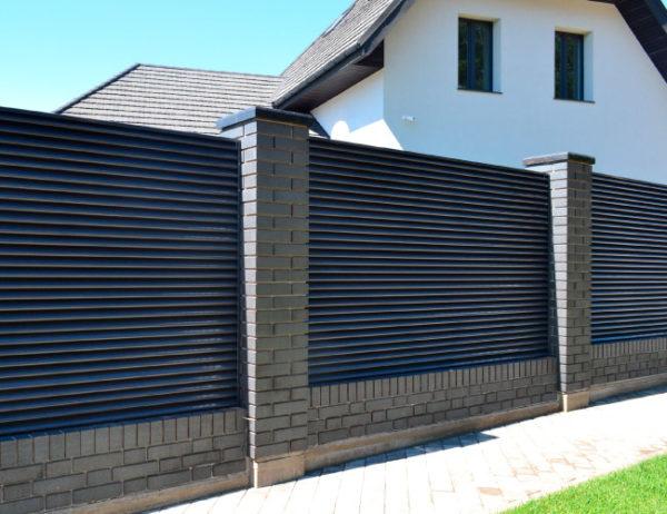 Забор жалюзи Твинго металлический двусторонний