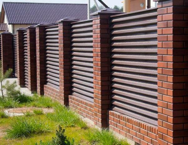 Забор жалюзи Виола металлический бескаркасный