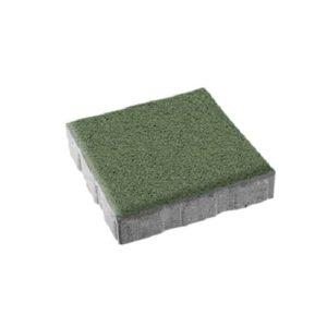 Тротуарная плитка ВЫБОР Гранит КВАДРУМ Б.1.АР.6 Зеленый