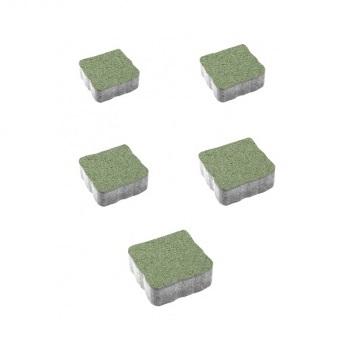Тротуарные плиты ВЫБОР Гранит АНТИК А.3.А.4 Зелёный - комплект из 5 плит
