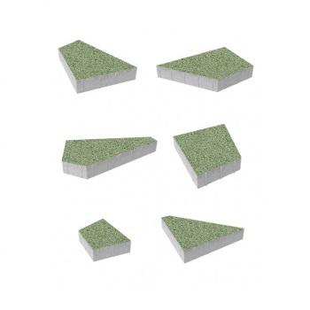 Тротуарные плиты ВЫБОР Гранит ОРИГАМИ Б.4.Фсм.8 Зеленый- комплект из 6 плит