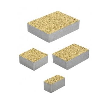 Тротуарные плиты ВЫБОР Гранит МЮНХЕН Б.2.Фсм.6 Желтый- комплект из 4 плит