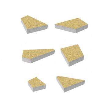 Тротуарные плиты ВЫБОР Стандарт ОРИГАМИ Б.4.Фсм.8 Желтый- комплект из 6 плит