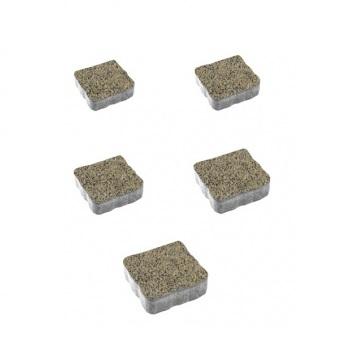 Тротуарные плиты ВЫБОР Гранит АНТИК А.3.А.4 Желтый с черным - комплект из 5 плит