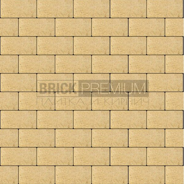 Тротуарная плитка Brick Premium Платцстоун Жёлтый гладкая 65 мм