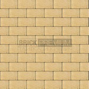 Тротуарная плитка Brick Premium Платцстоун Жёлтый гладкая 45 мм