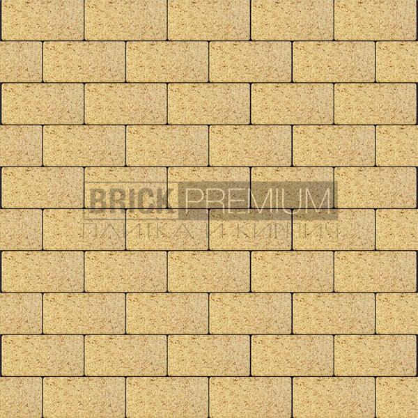 Тротуарная плитка Brick Premium Платцстоун Жёлтый гранит 65 мм